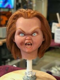 11 Chucky Childs Play'bad Guy' Silicone Head Doll/ Movie Accurate Rare Prop