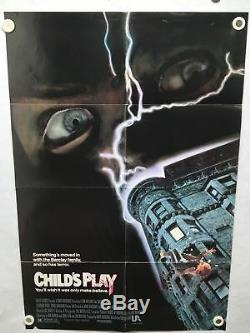 1988 Childs Play Original 1SH Movie Poster 27 x 40 Chucky Horror Good Guys Doll