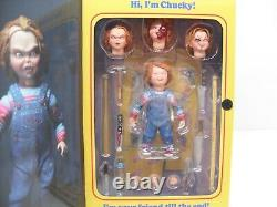 2018 NECA Child's Play CHUCKY Good Guys Doll with Bloody Heads & Accessories