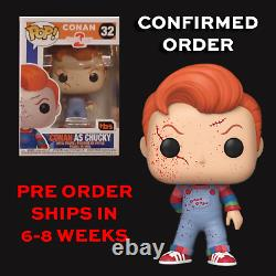 2020 SDCC TBS Funko Pop Childs Play 2 Conan As Chucky #32 PREORDER CONFIRMED