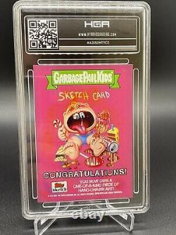 2021 Garbage Pail Kids SKETCH CARD Victor Moreno 1 of 1 CHUCKY HGA 9.0 CUSTOM