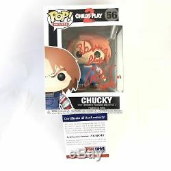 Alex Vincent Signed Chucky Funko Pop Child's Play 2 PSA/DNA Autographed