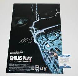 BRAD DOURIF SIGNED'CHILD'S PLAY' 12x18 MOVIE POSTER BECKETT COA DUNE CHUCKY BAS