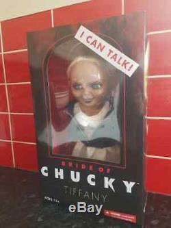 Bride Of Chucky Tiffany Child's Play 15 Mezco Talking Mega Doll Damaged Box