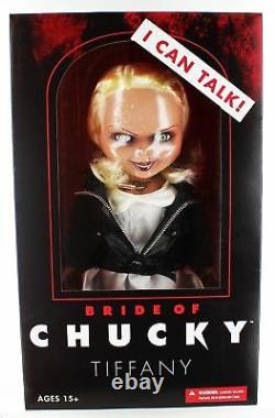 Bride Of Chucky Tiffany Child's Play 15 Mezco Talking Mega Scale Doll with Sound