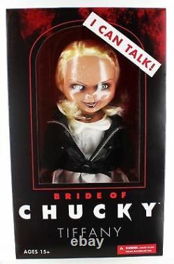 Bride Of Chucky Tiffany Child's Play 15 Mezco Talking Mega Scale Doll with Sound