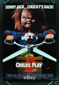 CHILD'S PLAY 2 CineMasterpieces ORIGINAL CHUCKY ROLLED MOVIE POSTER 1990