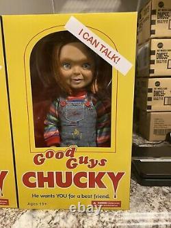 CHILD'S PLAY 3 TALKING CHUCKY 15 GOOD GUY PIZZA FACE MEGA DOLL Mezco Halloween