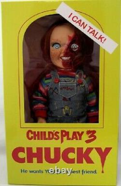 CHILD'S PLAY 3 Talking Pizza Face 15 Chucky Doll (Mezco) #NEW