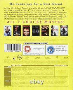 CHILD'S PLAY AND & CHUCKY 7 MOVIE FILM COMPLETE childs COLLECTION Blu Ray UK Rel