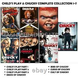 CHILD'S PLAY & CHUCKY Seasons 1-7 COMPLETE FILM COLLECTION NEW UK REGION 2 DVD