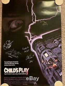 CHILD'S PLAY - Signed by Chucky (Brad Dourif) and cast - 27 x 40 poster