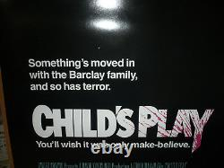 CHILD'S PLAY, nr mint orig rolled 1-sh / movie poster (Tom Holland, Chucky)