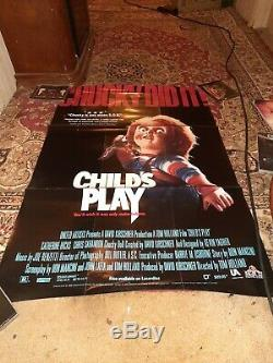 CHILDS PLAY movie poster original video store promo 1988 RARE. CHUCKY DID IT