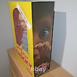 CHUCKY MEGA DOLL CHILD'S PLAY 15 GOOD GUYS TALKING HAPPY FACE FIGURE MEZCO 38cm