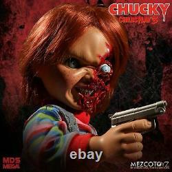 Child's Play 15 PIZZA FACE TALKING CHUCKY Mega scale figure / sound MEZCO Doll