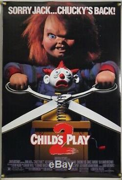 Child's Play 2 Ds Rolled Orig 1sh Movie Poster Chucky Horror (1990)
