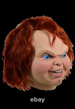 Child's Play 2 Evil Chucky Mask Mens Halloween TV Trick Or Treat Studios RLUS104
