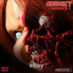 Child's Play 3 Chucky Pizza Face 15 Talking Action Figure MEZ78020
