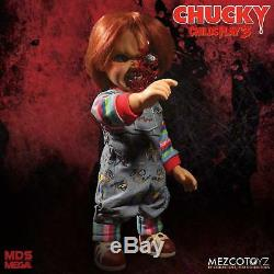 Child's Play 3 Pizza Face Chucky Talking 15-Inch Doll Action Figure by Mezco