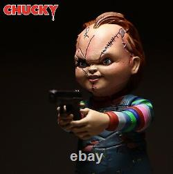 Child's Play Bride CHUCKY Good Guy Scars 5-inch Action Figure with Knife & Gun