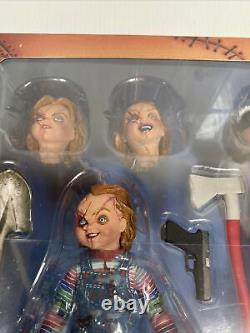 Child's Play Bride of Chucky 4 Scale Ultimate Action Figure Chucky and Tiffany