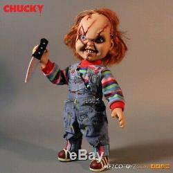 Child's Play Chucky 15 Talking Action Figure mezco scared bride of chucky