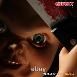 Child's Play Chucky Evil Face 15 Mezco Talking Mega Scale Doll with Sound Prop