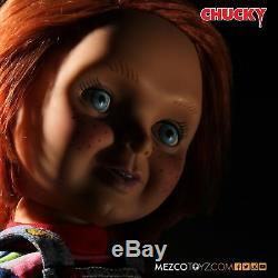 Child's Play Chucky Good Guys 15 Mega Scale Talking Doll Mezco Smiling