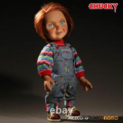 Child's Play Chucky Happy Face 15 Mezco Talking Mega Scale Doll with Sound Prop