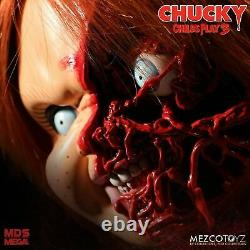 Child's Play Chucky Pizza Face 15 Mezco Talking Mega Scale Doll with Sound Prop