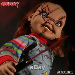 Child's Play Chucky Talking Scarred Mega Scale Doll with Sound 15 Mezco