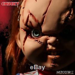 Child's Play Chucky & Tiffany Talking Mega Scale Doll with Sound 15 Mezco Set