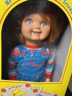 Child's Play Good Guys Chucky Doll Horror Movie Trick or Treat Studios With Box