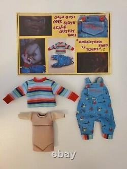 Child's Play Head & Clothing Set For Neca Retro Chucky 1/6 Custom Figure Limited