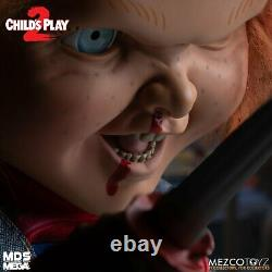 Child's Play Menacing Chucky 15 Mezco Talking Mega Scale Doll with Sound Prop