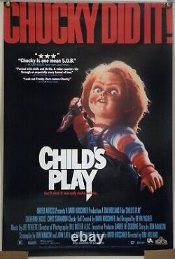 Child's Play Rolled Orig Video Movie Poster Chucky Horror Don Mancini (1989)