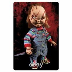 Child's Play Scarred Chucky Talking Mega-Scale 15-Inch Doll