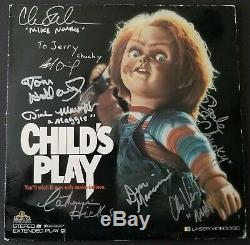 Child's Play Signed LD X8 Catherine Hicks Chris Sarandon Brad Dourif Chucky Bas