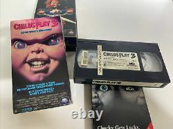 Child's Play VHS Lot 80s Horror Set of 1-4 Chucky 1 2 3 Bride of Originals