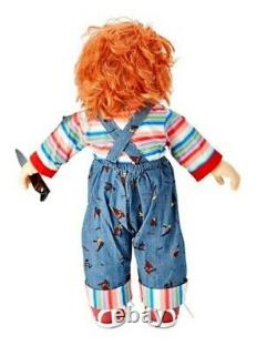 Childs Play 24 Chucky Doll with Knife Halloween Movie Toy Decoration NEW
