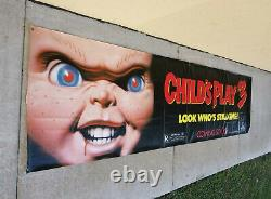Childs Play 3 1991 Promo Movie Vinyl Banner Chucky Rare 10ft Long 2ft high VGC