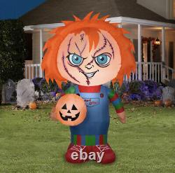 Childs Play 5ft CHUCKY Good Guys Halloween Airblown Inflatable NEW Gemmy 2020