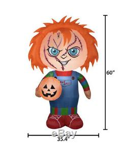 Childs Play 5ft CHUCKY Good Guys Halloween Airblown Inflatable NEW NO BOX Gemmy
