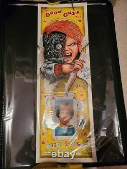 Childs Play Chucky Doll Movie Art Print Poster Steven Holliday Alex Vincent JSA