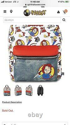 Childs Play Chucky Mini Backpack Good Guy Doll Brand New In Hand Ready To Ship