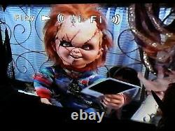 Childs Play/Chucky VHS Lot. 1,2,3 And Bride. Good Guys Cereal Prop Box. Horror