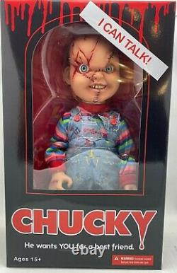 Chucky Action Figure 15 Childs Play Talking SCARRED Chucky Doll Mezco Toys