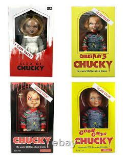 Chucky Doll Child's Play Tiffany 15 Mezco Talking Mega Scale With Sound Prop