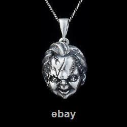 Chucky Horror Pendant, Child's Play, sterling silver, handmade. Chucky doll